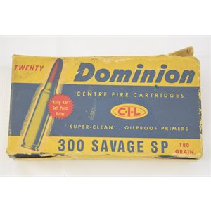 DOMINION C-I-L 300 SAVAGE 180GR 18 ROUNDS
